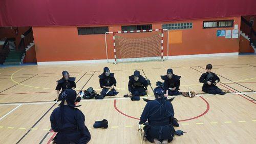 1ère découverte de l'équipement par les enfants de la section Kendo